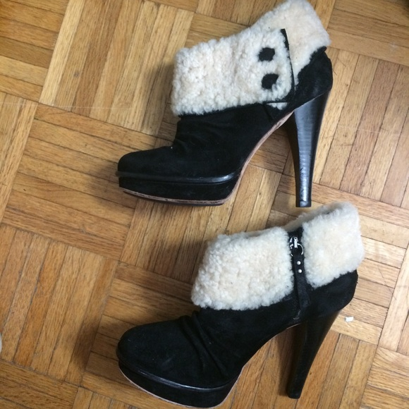 c95ae2dd4ed Ugg Georgette ankle boot heel platform sz 9 black